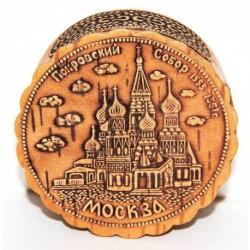 Шкатулка из бересты 'Собор Москвы'