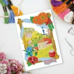 Набор для творчества. Вышивка крестиком «В деревне» 25x35 см. Набор для творчества