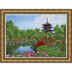 «Светлица» набор для вышивания бисером №299 «Японский мотив» бисер Чехия 24x19см