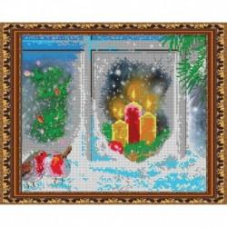 «Светлица» набор для вышивания бисером №370 «Рождественская» бисер Чехия 31,1x25,2см