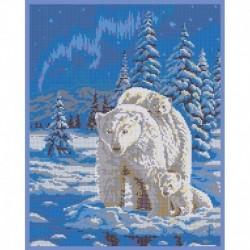 'Белые медведи' 30x38см набор для вышивания чешским бисером 'Вышивочка' ВЛ-215П