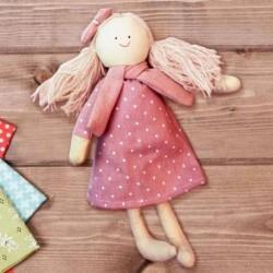 Игрушка из ткани 'Девочка с бантиком'