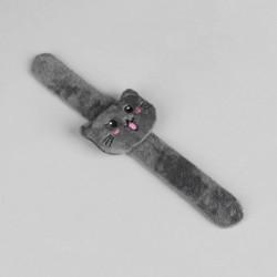 Игольница на браслете «Кошка», 23x6,5 см, цвет серый