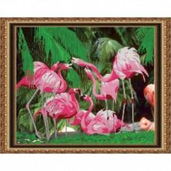 «Светлица» набор для вышивания бисером №039 «Фламинго» бисер Чехия 39,9x31,9см