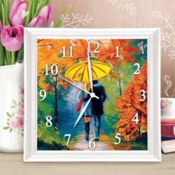 Картина по номерам - часы «Влюблённые», 30x30 см