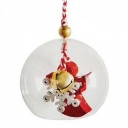 Набор для творчества - создай ёлочное украшение «Ангел с бубенчиком в шаре»