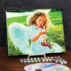 Картина по номерам на холсте с подрамником «Ангел» 40x50 см