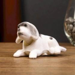 Собака - качает головой, маленькая, бархат, цвет в ассортименте