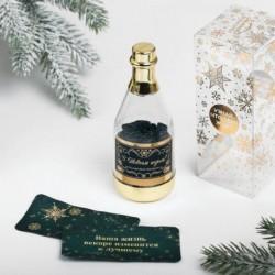 Пожелания в бутылке «С Новым годом», 12x5см