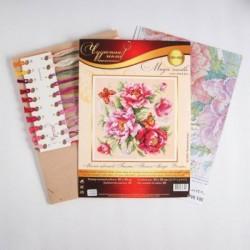 Набор для вышивания крестиком «Магия цветов. Пионы» 30x30 см