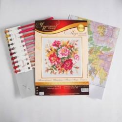 Набор для вышивания крестиком «Магия цветов. Шиповник» 30x30 см