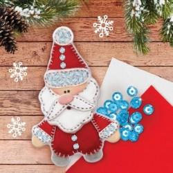 Новогодняя ёлочная игрушка из фетра 'Дед Мороз'