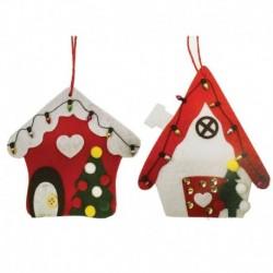 Набор для творчества - создай ёлочное украшение «Новогодние домики», набор 2 шт.