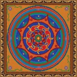 «Светлица» набор для вышивания бисером №544П «Мандала. Равновесие» бисер Чехия 27x27см