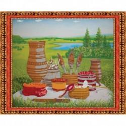 «Светлица» набор для вышивания бисером №085 «Дары севера» бисер Чехия 47,1x35,5см
