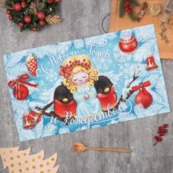 Полотенце 'С Рождеством' 35x60 см,100% хлопок 160 г/м2