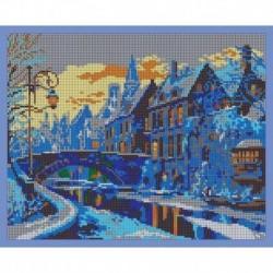 'Зимний город' 30x24см набор для вышивания чешским бисером 'Вышивочка' ВЛ-211П