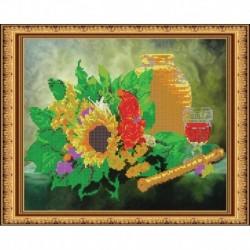 «Светлица» набор для вышивания бисером №267 «Дудочка» бисер Чехия 30x24см