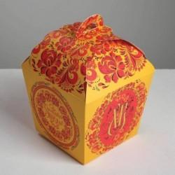 Коробка складная «Счастливой Пасхи», 17x17x26 см
