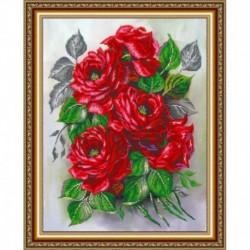 «Светлица» рисунок на ткани для вышивания бисером К-107 «Садовые розы» 38x48 см