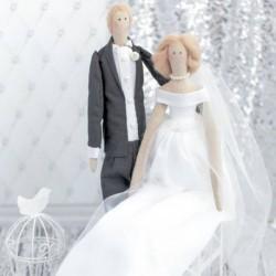 Свадебные куклы Mr&Mrs, набор для шитья, 18 x 22 x 3.6 см