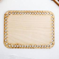 Заготовка для вязания 'Прямоугольник со скругленным углом' 20х15 см фанера МИКС