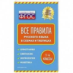 Все правила русского языка: в схемах и таблицах