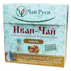 Иван-чай 'Чай Руси' Ферментированный с имбирем в пирамидках 20 пак. по 2 г