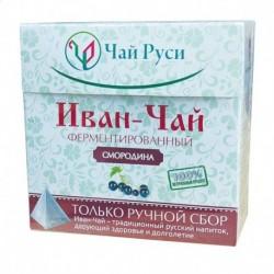 Иван-чай 'Чай Руси' Ферментированный с листьями смородины в пирамидках 20 пак. по 2 г