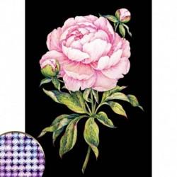 Алмазная вышивка с частичным заполнением «Цветок», 15 х 21 см, холст. Набор для творчества
