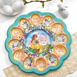 Пасхальная подставка на 12 яиц и кулич «Ангел с цыплятами»