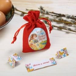 Пасхальный мешочек с пожеланиями «Ангел» 7x11x2 см
