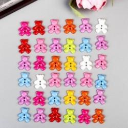 Пуговицы пластик для творчества 2 прокола 'Мишки' набор 36 шт 1,6х1,9 см