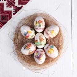 Пасхальная термоусадочная плёнка 'Ретро-открытки-3' на 7 яиц