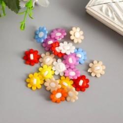 Пуговицы пластик для творчества 'Цветочек' набор 20 шт МИКС 1,5х1,5 см