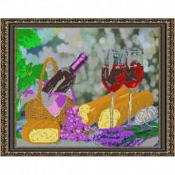 «Светлица» рисунок на ткани для вышивания бисером К-368 «Натюрморт с вином» 39x31см
