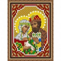 «Светлица» набор для вышивания бисером 8450ЛМ «Св. Петр и Феврония» бисер Чехия 7,5x10 см