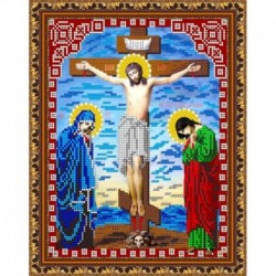 «Светлица» набор для вышивания бисером 8432 «Распятие Иисуса Христа» бисер Чехия 19x24 см