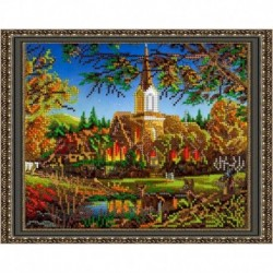 «Светлица» набор для вышивания бисером №290 «Золотая осень» бисер Чехия 24x19см