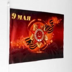 Флаг '9 мая' 30x45 см, шток 60 см