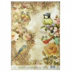 Декупажная карта «Птицы», 21 x 29,7 см