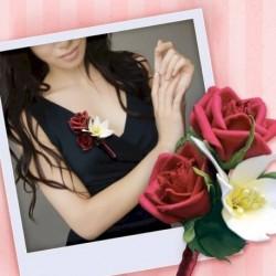 Бутоньерка из фоамирана своими руками 'Красная роза'