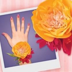 Браслет из фоамирана своими руками 'Желтая роза'