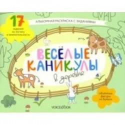 Раскраска с зад.'Веселые каникулы в деревне'5-8 лет