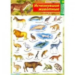 Исчезнувшие животные. Наклейки тематические