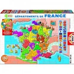 Пазл-150 'Департаменты Франции'