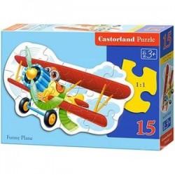Puzzle-15 'Забавный самолет' (В-015092)