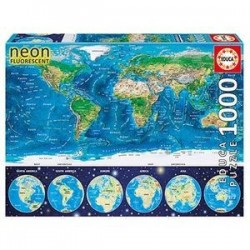 Пазл-1000 'Неоновая карта мира' (16760)