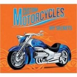 Детский трехблочный органайзер 'Синий мотоцикл'