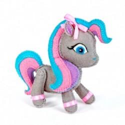 Набор для изготовления игрушки из фетра 'Пони', 13 см